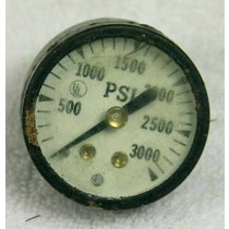 old school UL 3K psi gauge, used bad shape