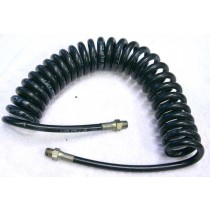 Thick coiled remote line with no fittings.