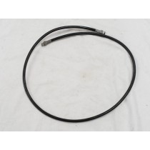 Black plastic hose, roughly 47 inches.