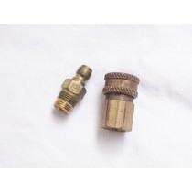 Parker brass male and female Quick Disconnect, needs rebuild