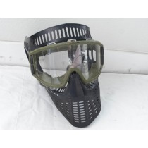 JT Elite / X Fire mask, black with green goggle frame, used