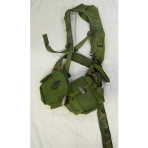 army surplus suspenders with pouches? Has squeegie holder attached, used and heavy