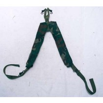 Camo suspenders, decent used shape with corroded and rusty clips, works fine