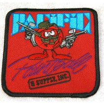 Pacific Paintball and Supply Inc Patch, red background, new