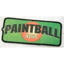 Paintball News patch, printed, with rip
