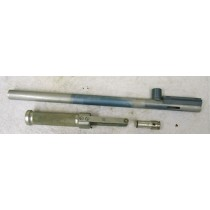 used and worn Line SI Bushmaster bore drop body, light blue, with bolt and pump handle