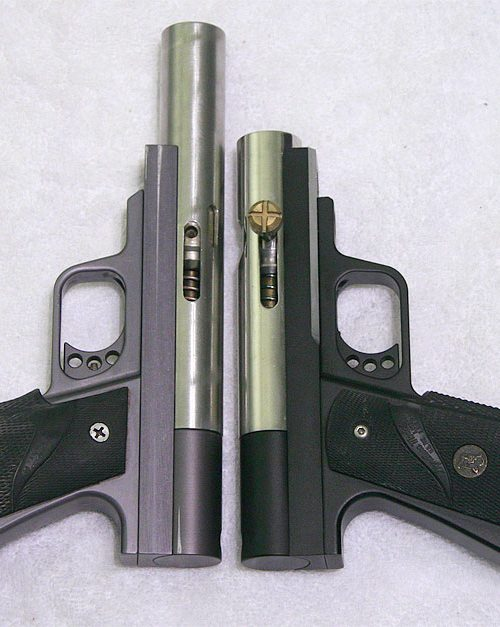 circle gun and redux side by side