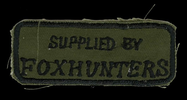 Early Foxhunters patch.
