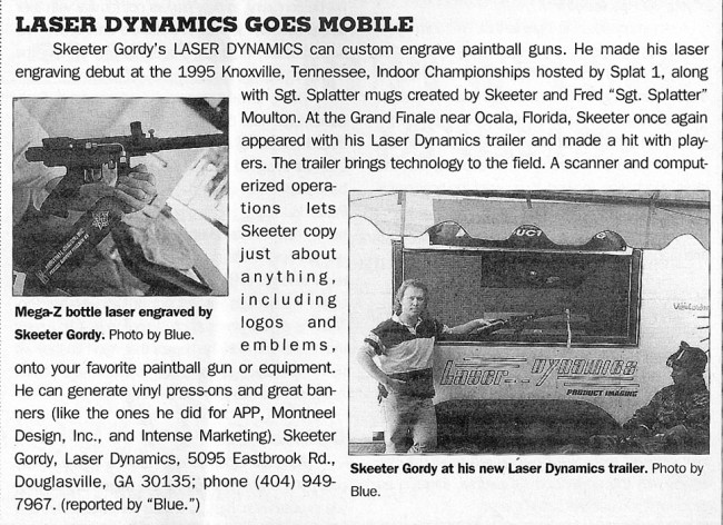 Skeeter Gordy and Laser Dynamics
