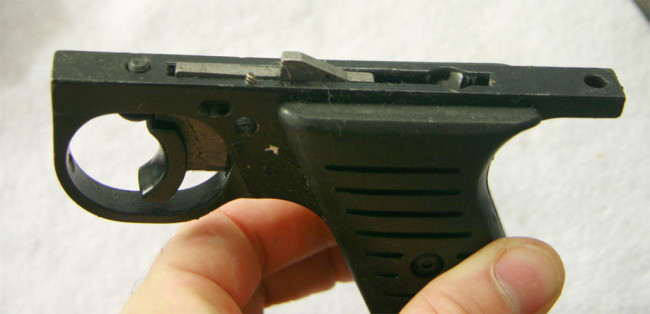 Top view of autotrracer trigger plate