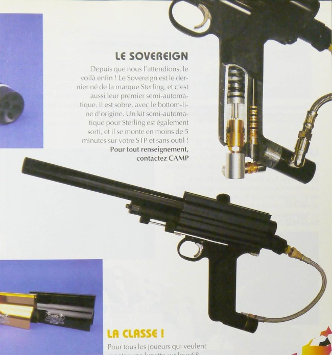 Proline Auto sterling article from paintball mag 1995