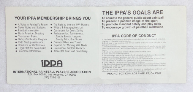 Back of IPPA card