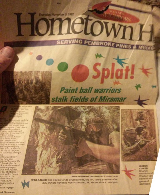 South Florida Brush Bandits on the cover of the Hometown Herald c. 1992