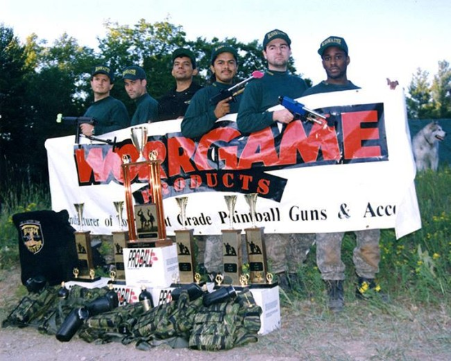 Bushmasters with worrgame banner