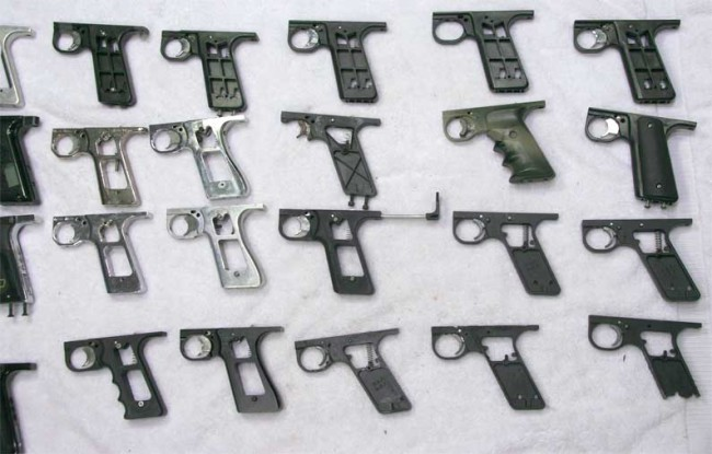 close up of Autococker Grip Frames