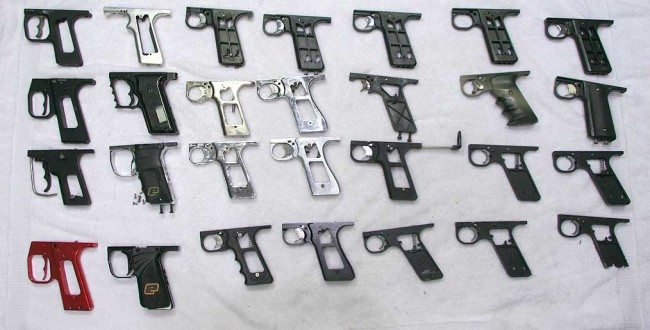Autococker grip frames