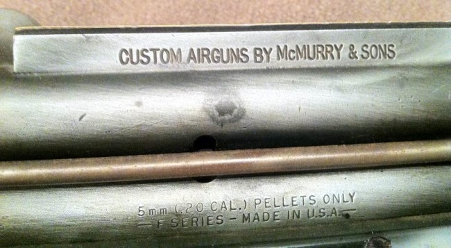 Left side of engraved sight rail