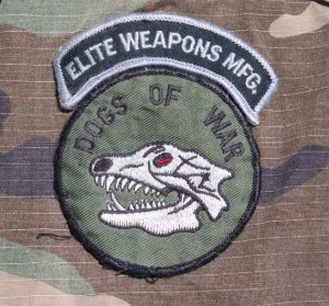 DeBone jacket, dogs of war patch and elite weapons