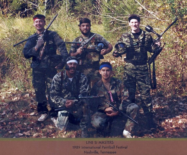 Paladin 5-man squad at the Line SI 1989 event.