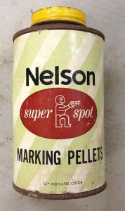 yellow super spot nelson paint can
