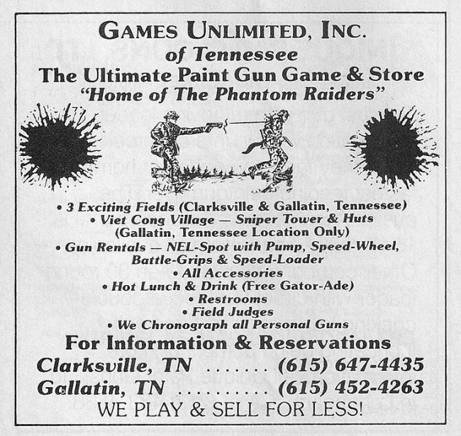 Games Unlimited September 1989 Paintcheck.