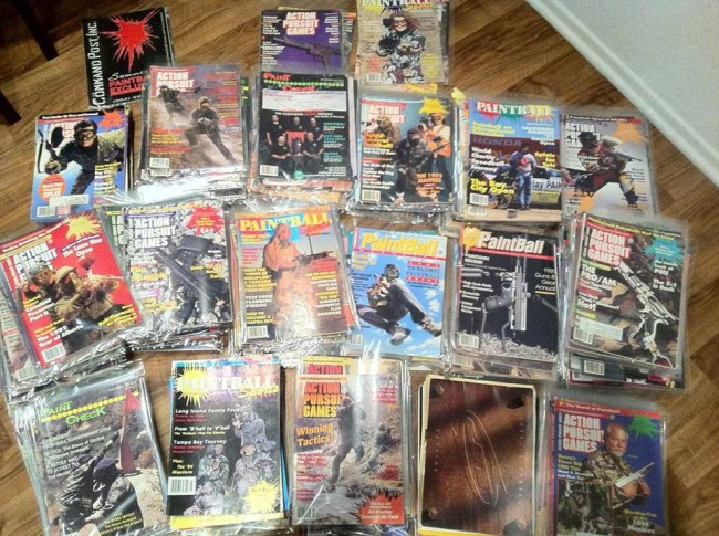 tons of classic paintball magazines!