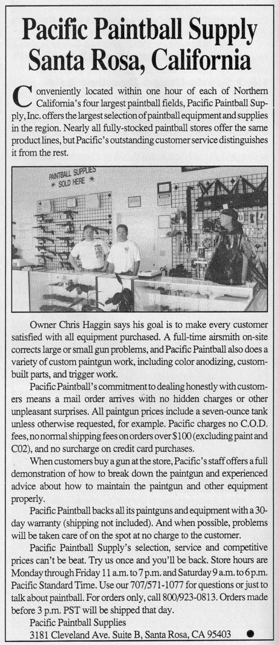 January 1993 APG article on Pacific Paintball