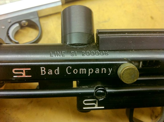 Serial number on a line si bushmaster body