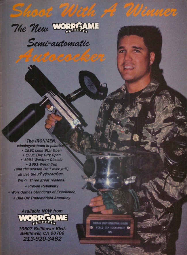 Darryl Trent in February 1992 Paintball Sport International