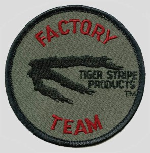 Tiger Stripe Factory Team Patch