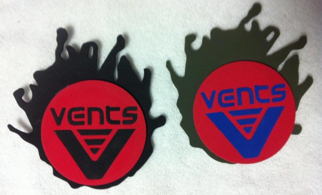 Vents Drink Coasters made of neoprene
