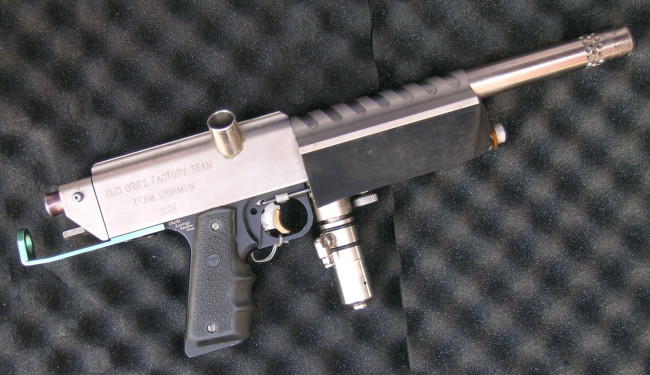 Right side of Rick Cendejas' Nickel Plated Autococker.