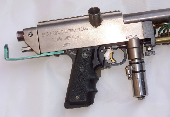 Right side of Cendejas' autococker with serial.
