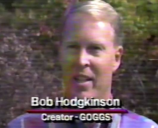 Bob Hodgkinson on the Goggs mask.