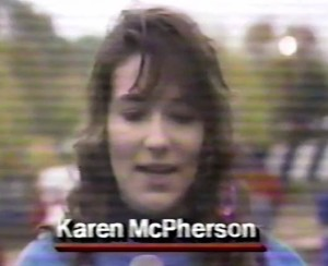 Karen McPherson of the All American's.