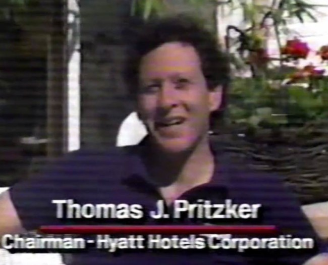 Thomas J. Pritzker on Hyatt Hotel Corporations' paintball excursions.
