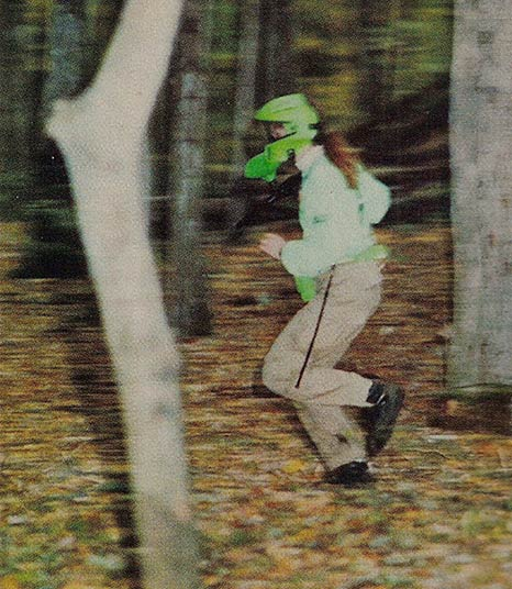 Donna Eicke, of the Lords, Scan from the February 1992 Issue of Paintball Sports International