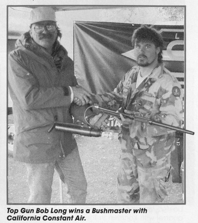 Ross Alexander and Bob Long in May 1990 issue of Paintball Sports Magazine.
