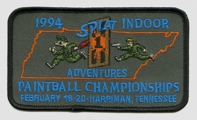 Splat 1 Adventures Indoor Championships 1994 Patch