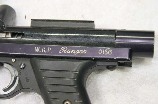 the sight rail and serial on this WGP Ranger
