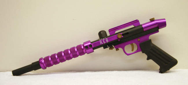 Purple Rebline MII Pump, left side.