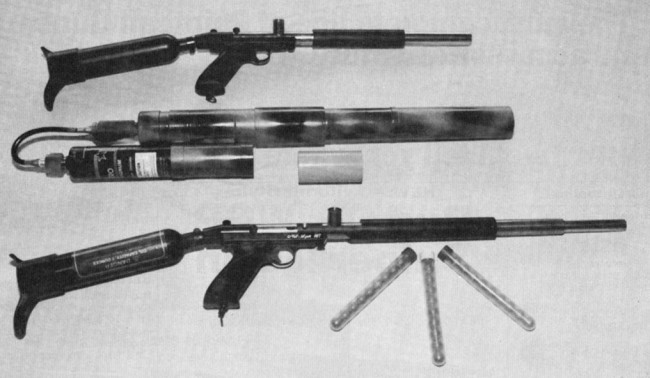 A close up of the Bore and Breech drop Brass Nelsons featured in the February 1990 issue of APG.