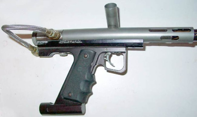 right side of a minimag with a 45 elite expansion chamber frame.