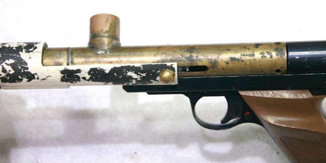 Left side view of Bore Drop Brass Nelson.