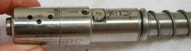 Bottom view of the minimag lvl 10 valve.