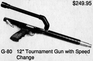 A close up on the 12 gram equipped TAG body kit advertised in the Hawk Combat Supplies ad.