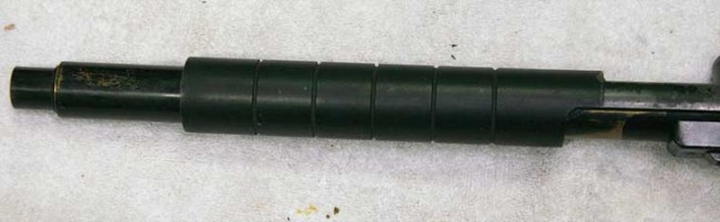 Side view of the PVC pump handle on the Tag Breech drop nelson.