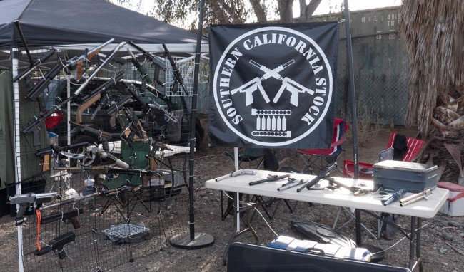 Side view of the display with the So Cal Stock Class Banner