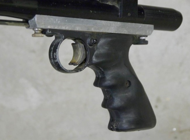 Another shot of the Battle grips on the Crosman frame.