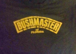 Front of Florida Bushmaster T Shirt.